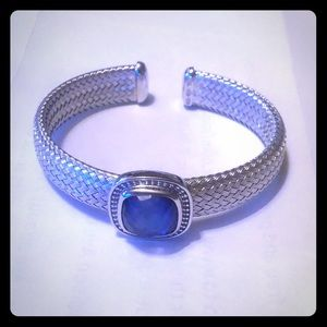 Sterling Silver bracelet with topaz jewel